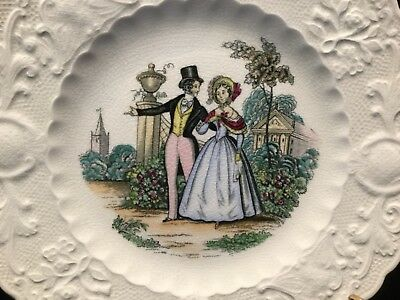 """Lovely Vintage Adams England """"Will You Be Mine"""" 9 1/4"""" Plate        #112C"""