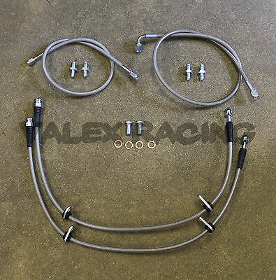 Complete Stainless Front Brake Line Replacement Kit 92-95 Honda Civic EG
