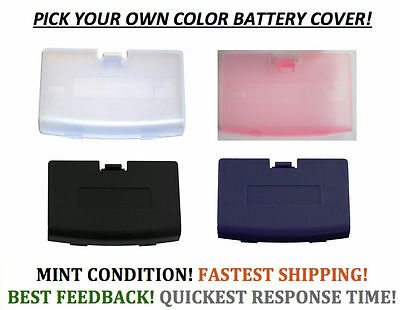 New Battery Cover for Game Boy Advance System GBA Replacement Door Pick A Color!