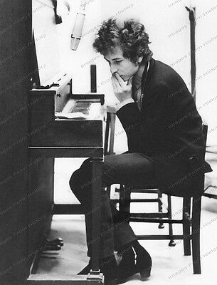 8x10 Print Bob Dylan Recording Session 1968 #BD723