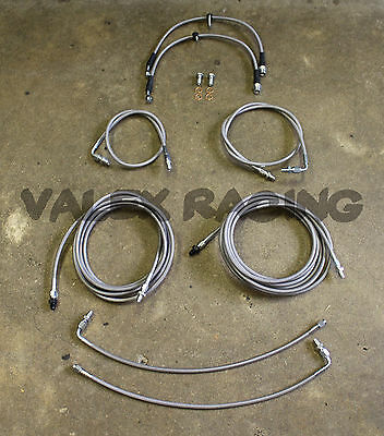 Complete Front & Rear Brake Line Replacement Kit 96-00 Honda Civic w/rear drum
