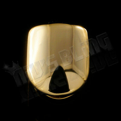 14K Gold Plated Single Top Tooth Grill Cap CUSTOM GRILLZ Canine Teeth Hip Hop