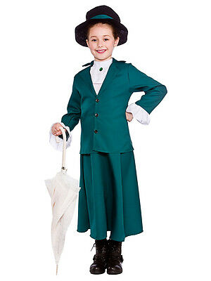 Victorian Girl Edwardian Nanny Fancy Dress Costume Mcphee Mary Poppins Ages 5-13