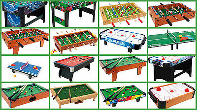 football tables billiards snooker pool air hockey table tennis ping pong table