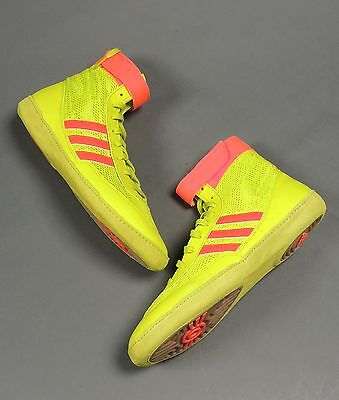 NEW Adidas Combat Speed 4 Wrestling Shoes B40609 Yellow/SolarRed/Gum Retail $82