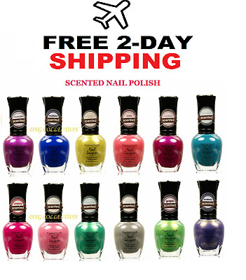 Kleancolor Scented Lacquer Nail Polish Lot Of 12 Pcs Mixed Beautiful Color 717