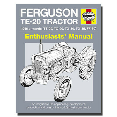 Haynes Enthusiasts Manual Ferguson TE-20 Tractor Owners enthusiasts Book H5010