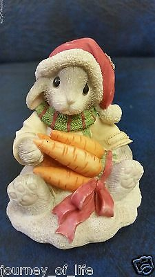 1996 Enesco My Blushing Bunnies Always Count Your Blessings Rabbit Figurine