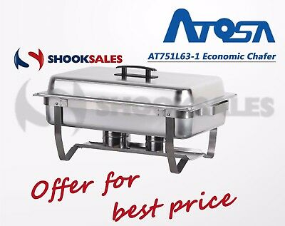 ATOSA AT751L63-1 Restaurant FOLDING 8 QUART CHAFING DISH WITH LID STAINLESS