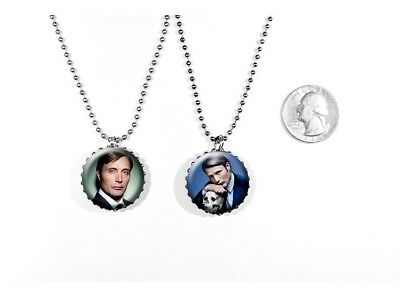 Mads Mikkelsen Danish Actor Hannibal James Bond 2 Sided Necklace
