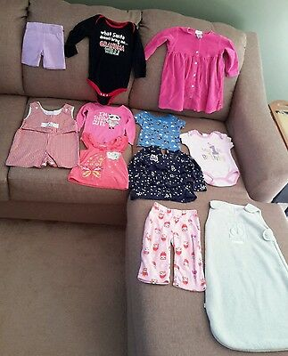Baby girls 12-18 months mixed lot pre-owned (gfc1)
