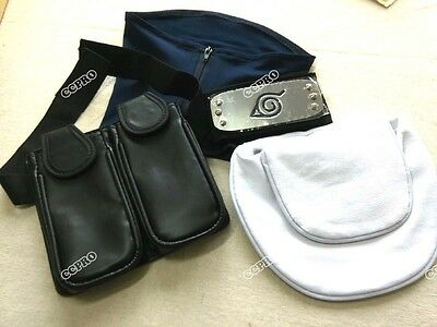 4pcs/set Face Mask&Headband&weapon bag COSPLAY for Anime NARUTO Hatake Kakashi