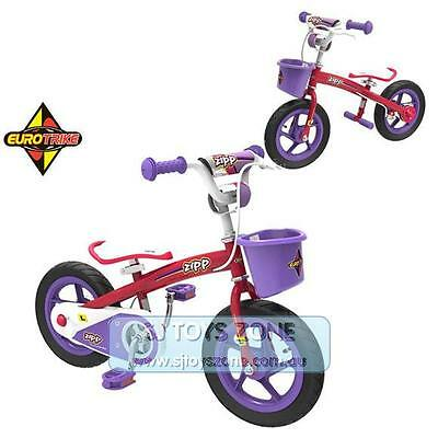 Eurotrike 2 in 1 Balance & Pedal Bike Pink Ride On Outdoor Toy For Girls