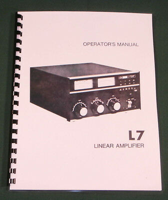 Drake L-7 Instruction Manual - Premium Card Stock & Protective Covers!