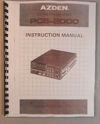 Azden PCS-2000 Instruction Manual - ring bound & protective covers!