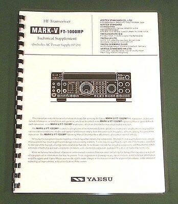 Yaesu FT-1000MP MK V Technical Manual - Card Stock Covers & 28 LB Paper!