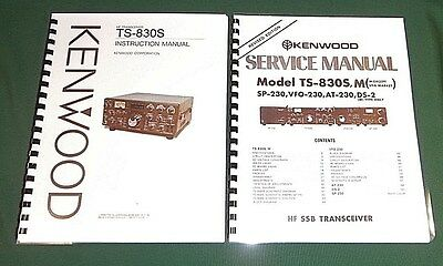 "Kenwood TS-830S Service & Instruction Manuals: With 11"" X 17"" Foldout Schematic"