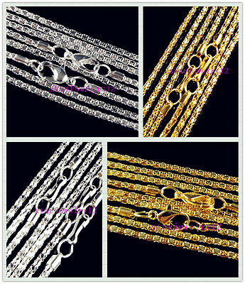 """10x Nice Silver/Gold Plated Hollow Snake Chain For Necklace Making 16.5""""-22.5"""""""