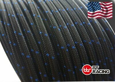 "3/8"" Nylon Stainless Steel Braided -6An An6 6-An Oil Fuel Line Hose 15Ft"
