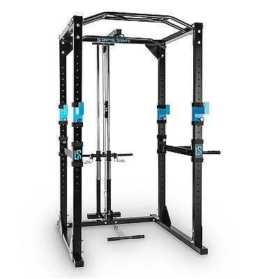 Capital Sports Blue Tremendour Plus Power Rack Strength Training Home Gym Steel