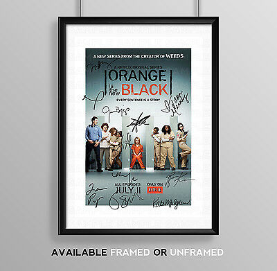 Orange Is The New Black Full Cast Signed Autograph Print Poster Photo Season Dvd