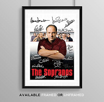 The Sopranos Cast Signed Autograph Print Poster Photo Tv Show Series Season Dvd