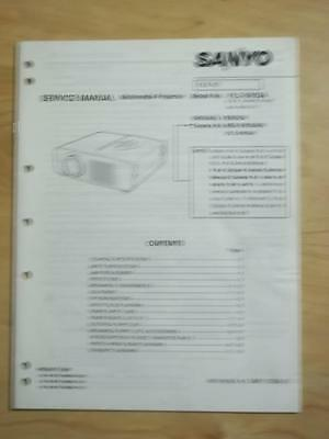 Sanyo Service Manual for the PLC-SW20A Multimedia Projector   mp
