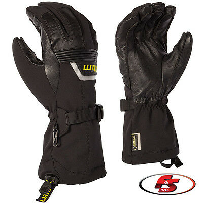 2018 Klim Fusion Gloves Black Snowmobile MD LG XL 2X 3X Gore Tex Motorcycle