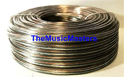 Car Audio Home Stereo SPEAKER WIRE 18 Gauge 100' ft Clear HD Quality Cable VWLTW