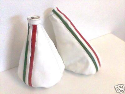 Alfa Romeo 147 White Gear Handbrake Leather Italy Flag