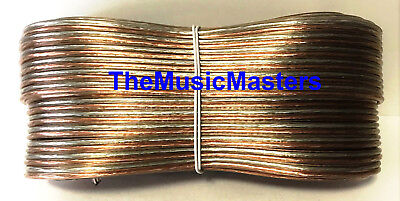 Car Audio Home Stereo SPEAKER WIRE 16 Gauge 100' ft Clear HD Quality Cable VWLTW