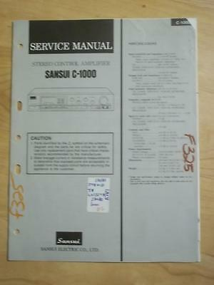 Sansui Service Manual for the C-1000 Amplifier Amp   mp