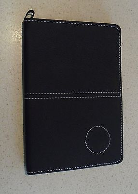 1 only GOLF DELUXE SCORECARD HOLDER BLK (SYN)  LEATHER BLK -