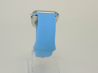 Blue Apple Watch 38mm Silicone Rubber Band Strap Fitness Bracelet Replacement