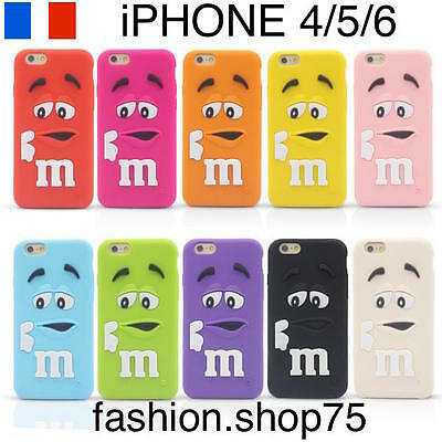 HOUSSE COQUE ETUI MM'S M&M'S MMS Silicone iPHONE 4/5/6 iPOD Et Stylet