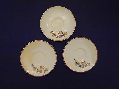 Taylor Smith & Taylor ~ 3 SAUCERS ~ TS&T Rooster Reveille