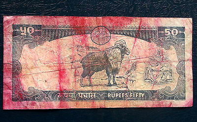 Central Bank of Nepal 50 Rupees Banknote P#48 Himalayan Tahr Issue Circ # 278