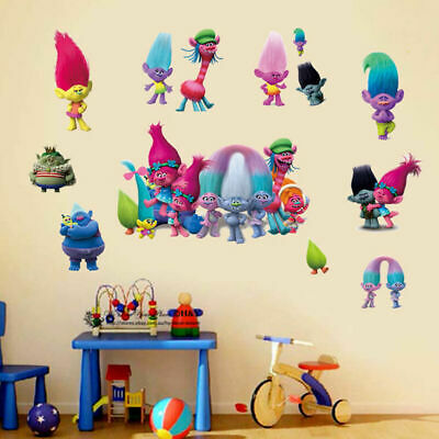 Trolls Poppy Characters Dreamwork Removable Wall Decor Kids Stickers Nursery Art