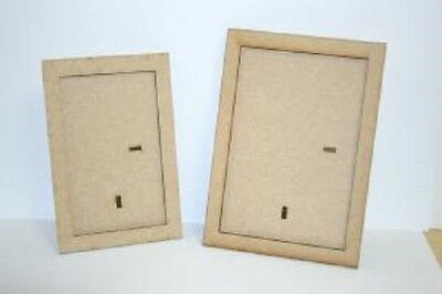 "Creative Expressions MDF RECTANGLE FRAMES  6"" x 4"" 5"" x 3"" & Stand CEMDFRECFRAM"