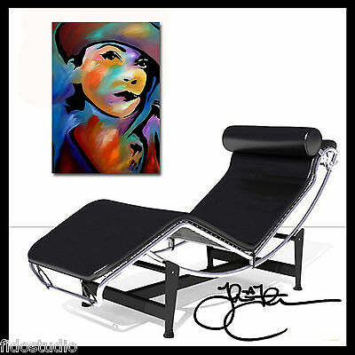 Original Abstract print Modern POP deco Woman HUGE Canvas WALL Art Fidostudio