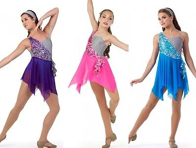 Momentous Dance Costume Lyrical Sequin Ice Skating Ballet Dress Tap Child-Adult