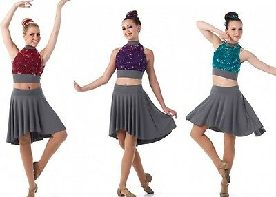 Elevate Sequin/Jersey Skating Ballet Lyrical Contemporary Dress Dance Costume US