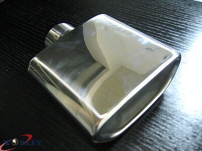 2.3'' Inlet Stainless Steel Trapezoid Resonated Exhaust Muffler Tip 7'' Long