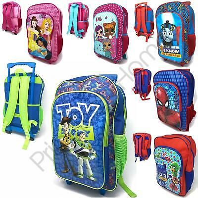 Kids Wheeled Trolley Hand Luggage Travel Bags Paw Patrol Peppa Avengers & More