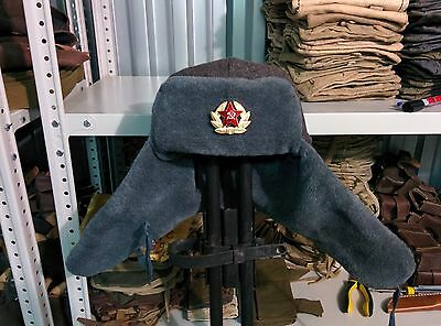 Polar Edition, Authentic Soviet and Russian soldier army hat  ushanka
