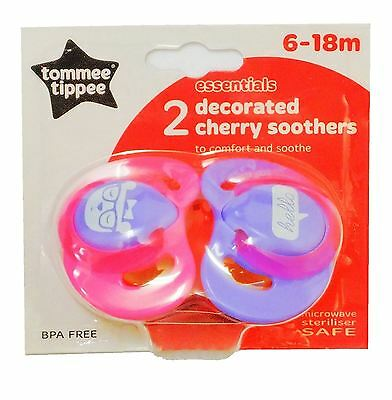 Tommee Tippee Essentials Basic Cherry Soother 6-18 Months Pink