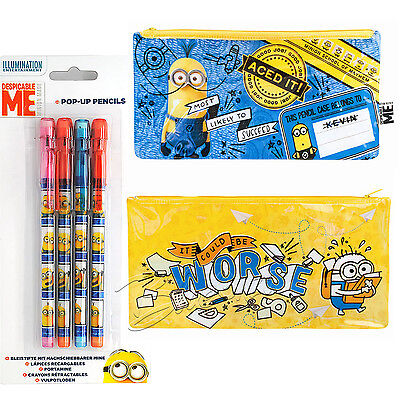 Despicable Pencil Bag Case Set Me Minions Pencil Case Minions Pop-up Pencils
