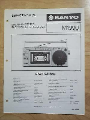 Sanyo Service Manual for the M1990 Radio Cassette Recorder