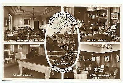 POSTCARD-SCOTLAND-ALLOA-RP. A Multiview of The Interior of The Gean House.