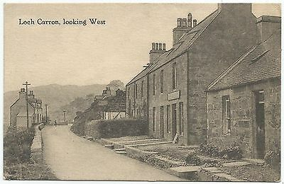 POSTCARD-SCOTLAND-LOCH CARRON-PTD. The Village Looking West.